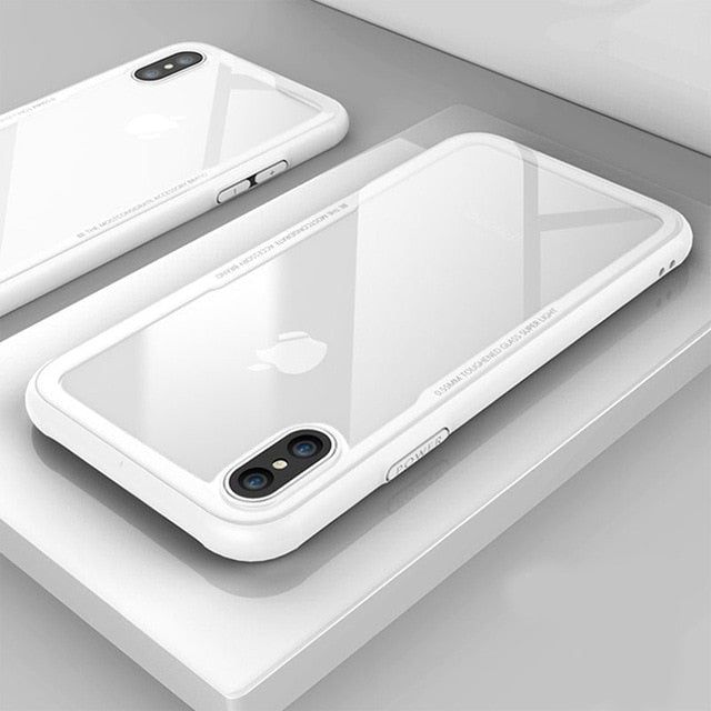 Protective Tempered Glass iPhone Case