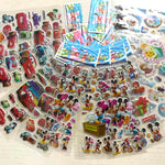 6 Sheets/lot 3D Puffy Bubble Stickers Cartoon Disney Mickey Mouse Pixar Cars Frozen Stickers DIY Children Boy Girl Toys