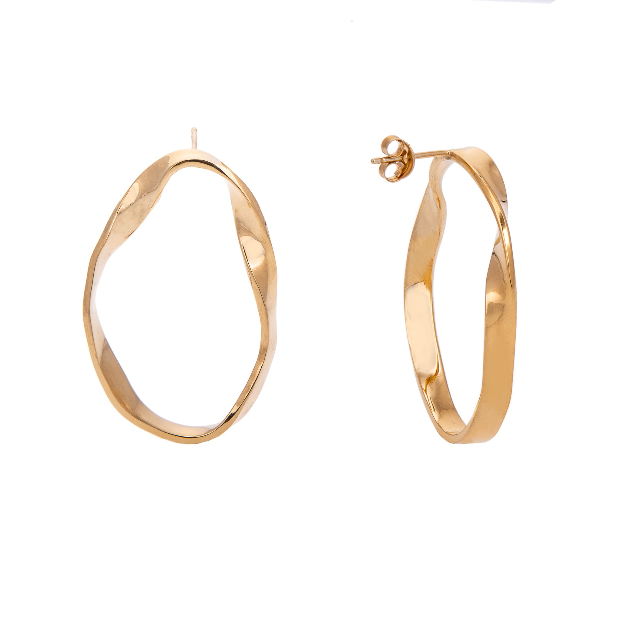 LARGE LOKA CONTOUR EARRINGS GOLD