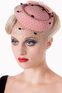 Judy Pillbox Hat - Pink - Bowler Vintage