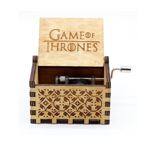 Image of Game of Thrones and Star Wars Wooden Music Box