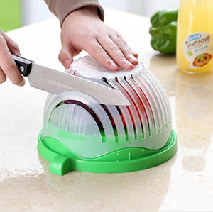 Salad cutting bowl kitchen gadge - Shop Forever Deals