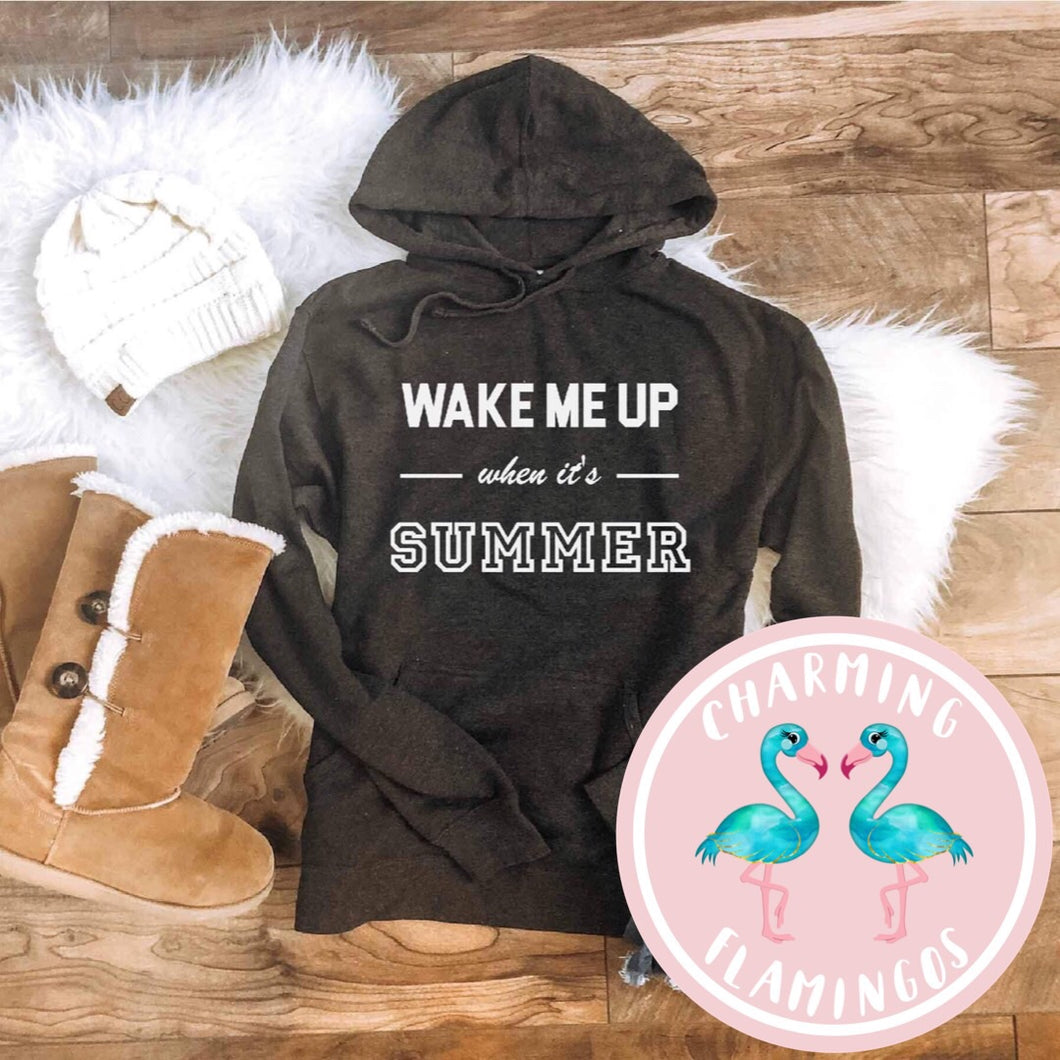 Wake Me Up When It's Summer Sweatshirt (Charcoal)