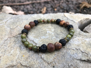 """The Woolly Caterpillar"" Stone & Seed Bracelet"
