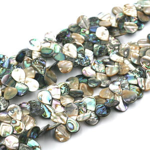 Abalone beads top drilled