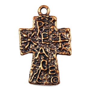 "Bronze ""Peace"" Cross"