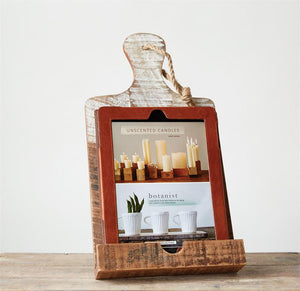 Rustic Wood Tablet Holder
