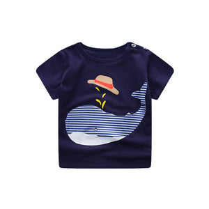 Black T-shirt with Whale