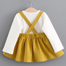 Yellow Long Sleeve Bunny Dress back view