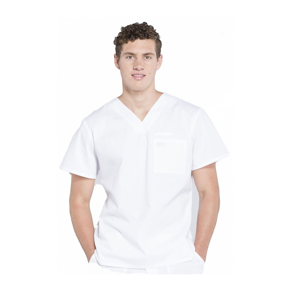 Cherokee Scrubs Workwear WW675 WW Professionals Mens Top Mens White Top