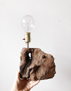 Vintage Burl Wood Lamp