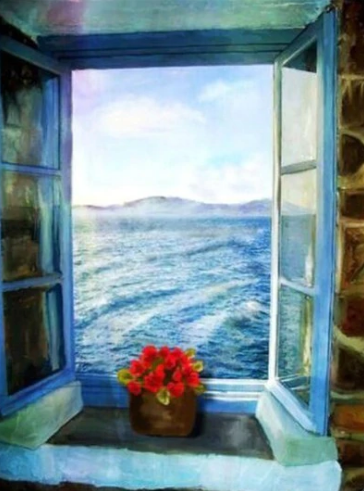 Sea View Full Square Diamond Painting