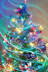 Christmas Tree Colors Full Square Diamond Painting