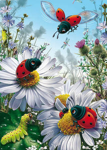 Lady Bug & Flower 5D  Diamond Painting