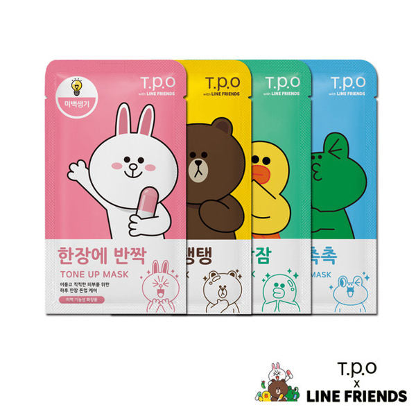 【 MEDIHEAL • T.P.O LINE FRIENDS系列限量面膜】10枚入