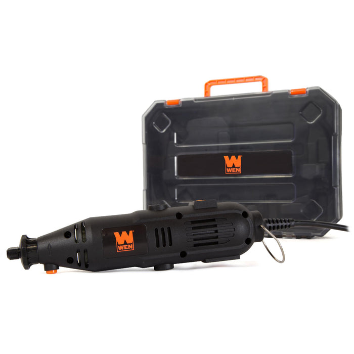 WEN 23103 1-Amp Variable Speed Rotary Tool with 100+ Accessories, Carrying Case and Flex Shaft