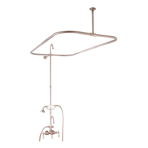 Tub/Shower Converto Unit – 48″ Rod for Cast Iron Tub