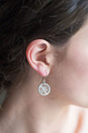 Silver Circle Drop Earrings