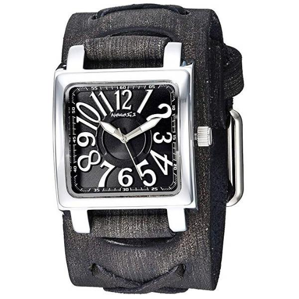 FXB256K Nemesis Unix square 3 d watch with Vintage leather cuff band
