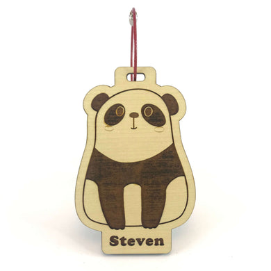 Luggage Tag (Cute Panda) with Custom Engraving - Wilson-Made