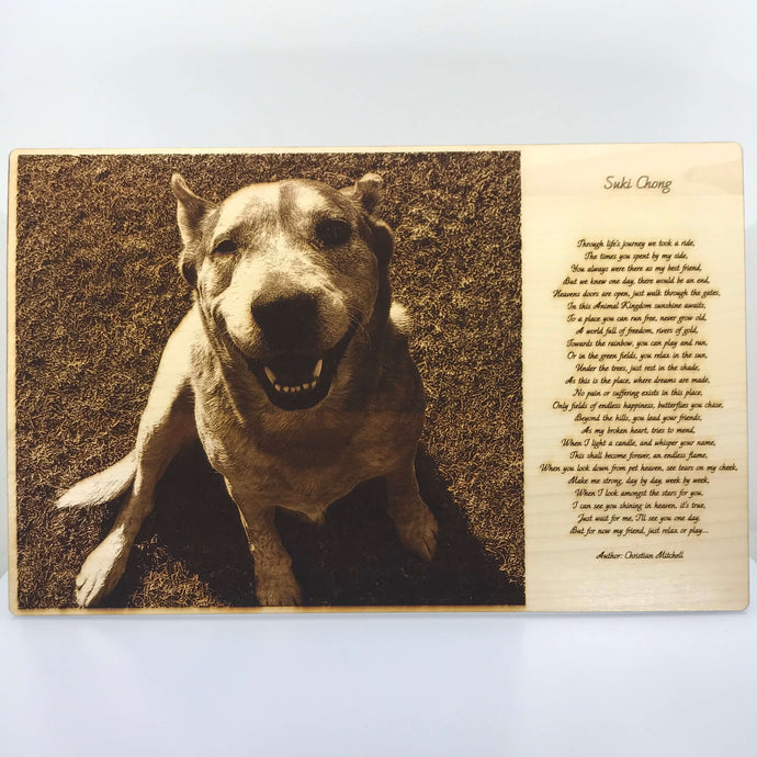 Pet Photo Engraving (Large) - Wilson-Made