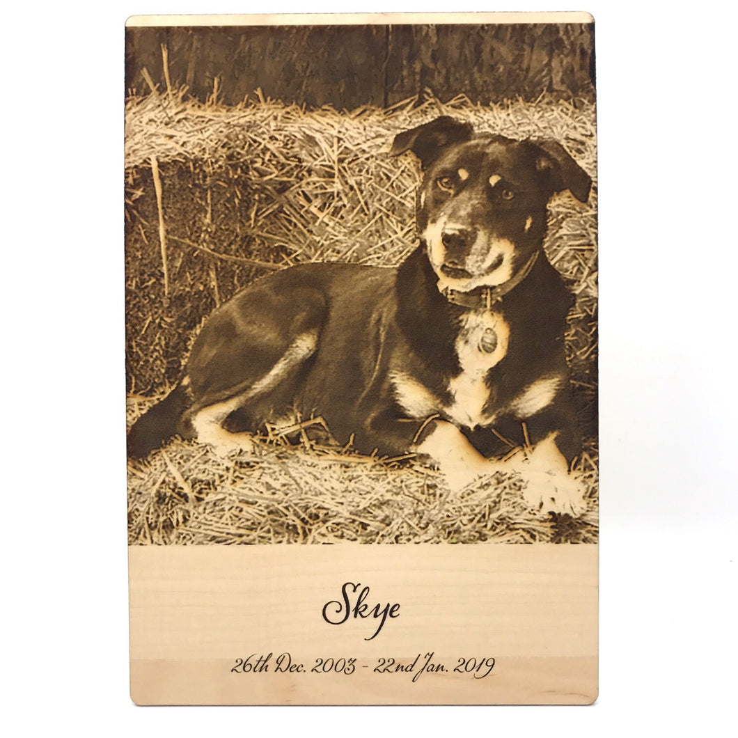 Pet Photo Engraving (Medium) - Wilson-Made