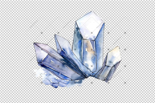 Cool Crystals Png Akvarel Set Digitalni