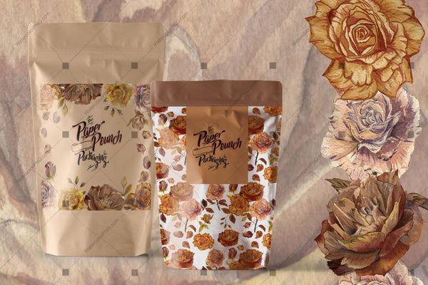 Autumn Roses Png Watercolor Set Digital