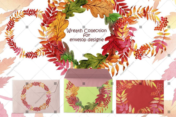 Wreath Collection Png Watercolor Set Digital