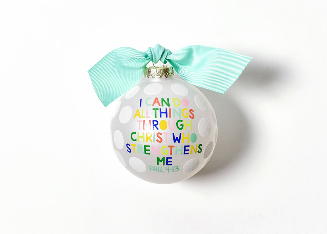 I Can Do All Things Glass Ornament