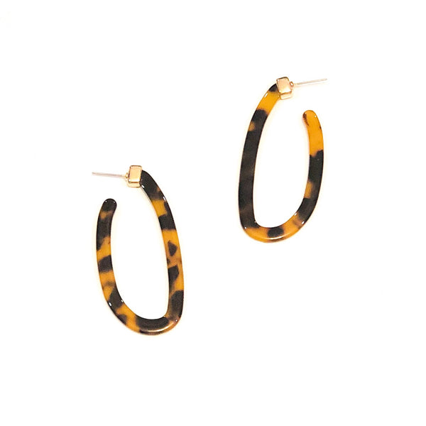Oval Acrylic Plated Hoops