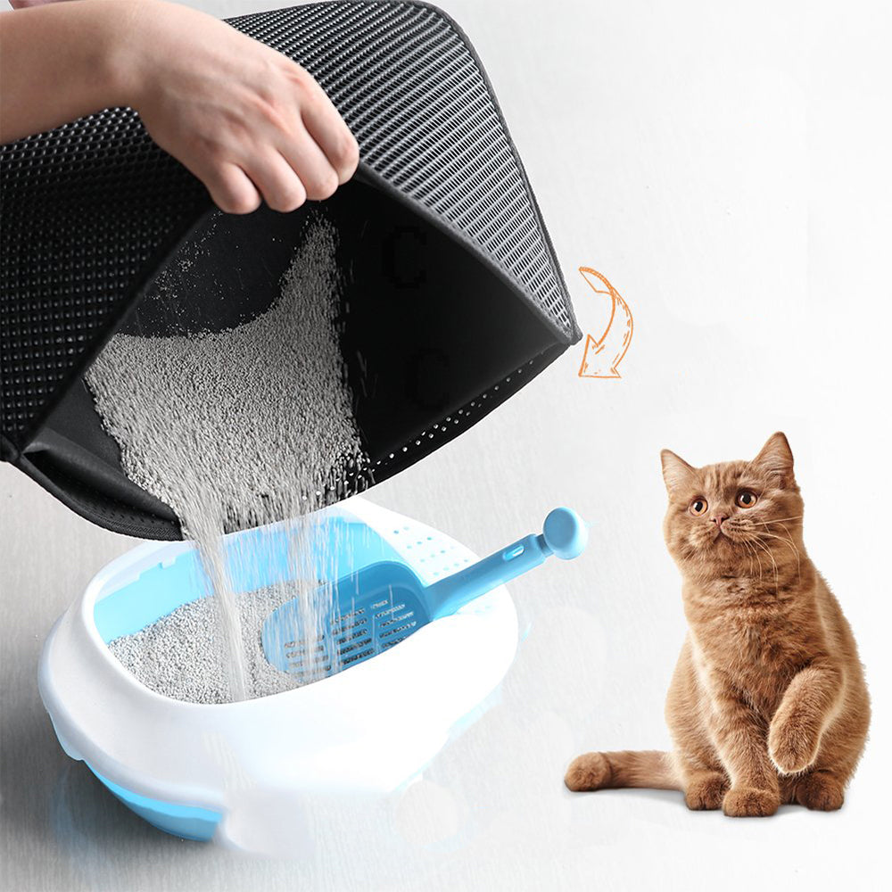 70% Off Anniversary Sale | 2019 Izerille Pro New Double Layer Larger Size Cat Litter Mat