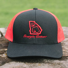 Georgia Cotton Apparel Trucker Hat in Red and Black