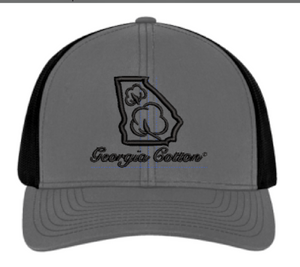 Georgia Cotton Trucker Hat in Gray and Black