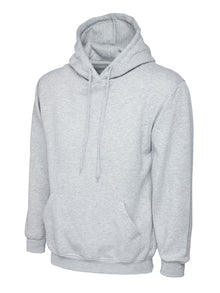 Uneek Classic Hooded Sweatshirt Heather Grey UC502