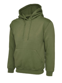 Uneek Classic Hooded Sweatshirt Olive UC502