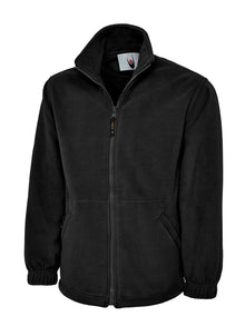 Uneek Classic Full Zip Fleece Jacket Black UC604