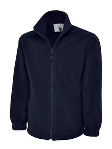 Uneek Classic Full Zip Fleece Jacket Navy UC604