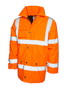 Uneek Hi Vis Road Safety Jacket Orange UC803