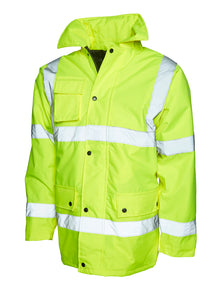Uneek Hi Vis Road Safety Jacket Yellow UC803