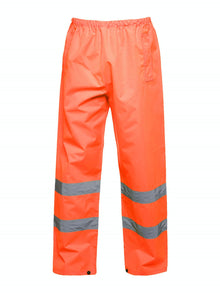 Uneek Hi Vis Safety Over Trousers Orange UC807