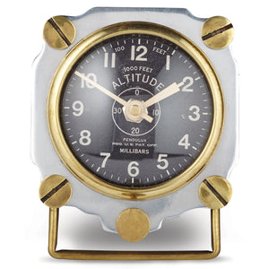 ALTIMETER TABLE CLOCK ALUMINUM