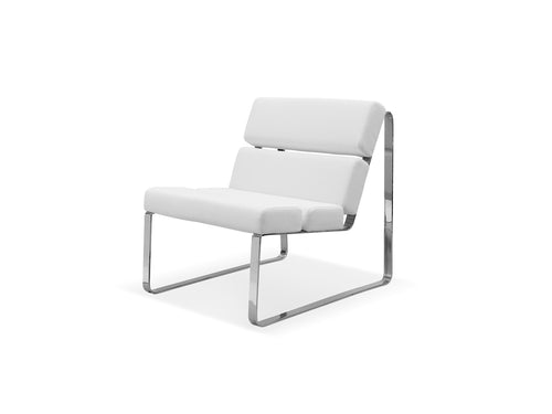 Angel Chair Faux Leather Chrome Frame