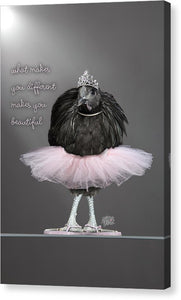 Chicken Wall Art -makes You Beautiful - Canvas Print