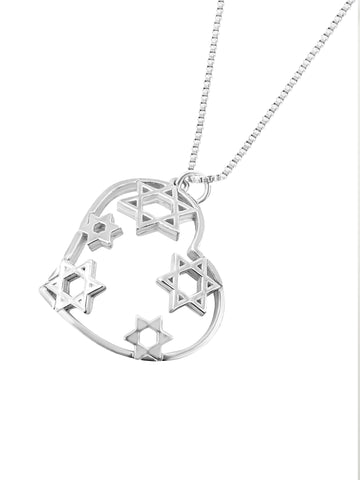 heart and star pendant