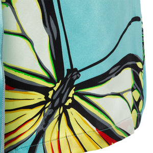 Turquoise Butterfly Motif Robe