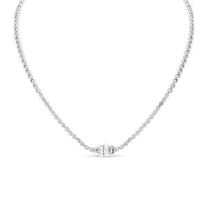 Bezel Set Diamond Eternity Necklace