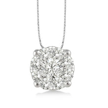 Round Diamond Illusion Pendant