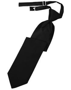 Black Luxury Satin Kids Necktie