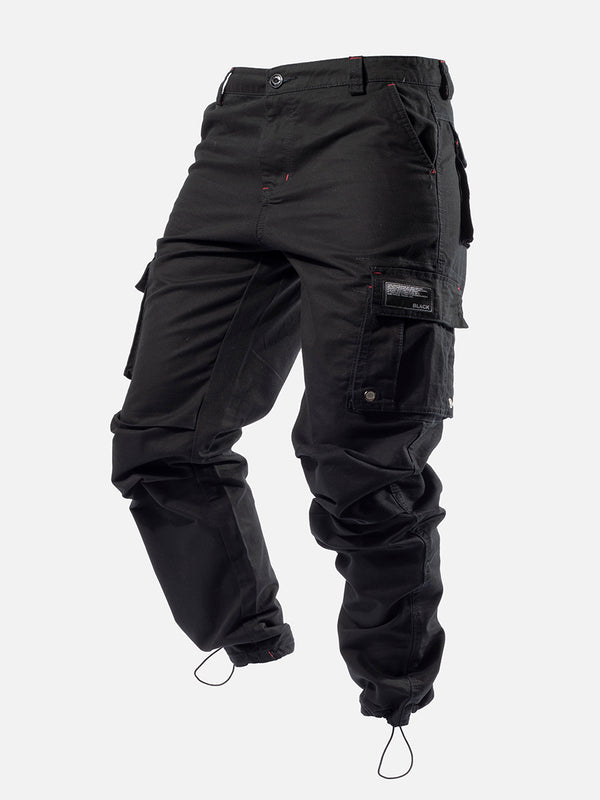 Blacktailor C9 Cargo Pants in black color model image 1